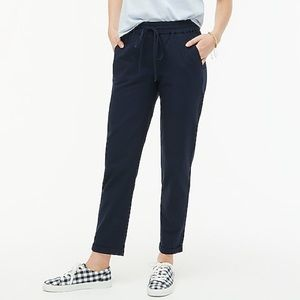 Cotton linen drawstring pants